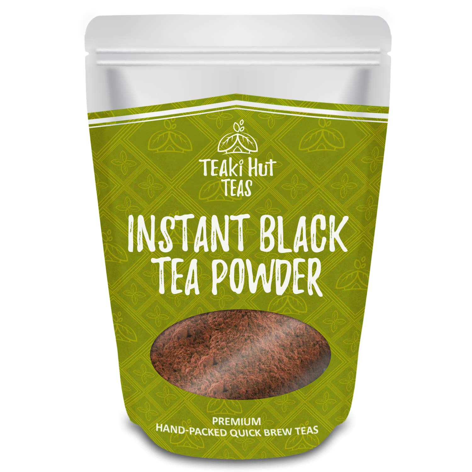 TEAki Hut Instant Black Tea Powder | Zero-Cholesterol Powdered Black Tea Leaves | Unsweetened Instant Tea Mix for Hot & Cold Beverages | Great for Baked Goods, Lattes, & Smoothies | 113 Servings