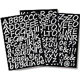 Rayher Hobby 38921000 Lettere adesive corsivo, 3 cm, A4, autoadesiva, Bianco