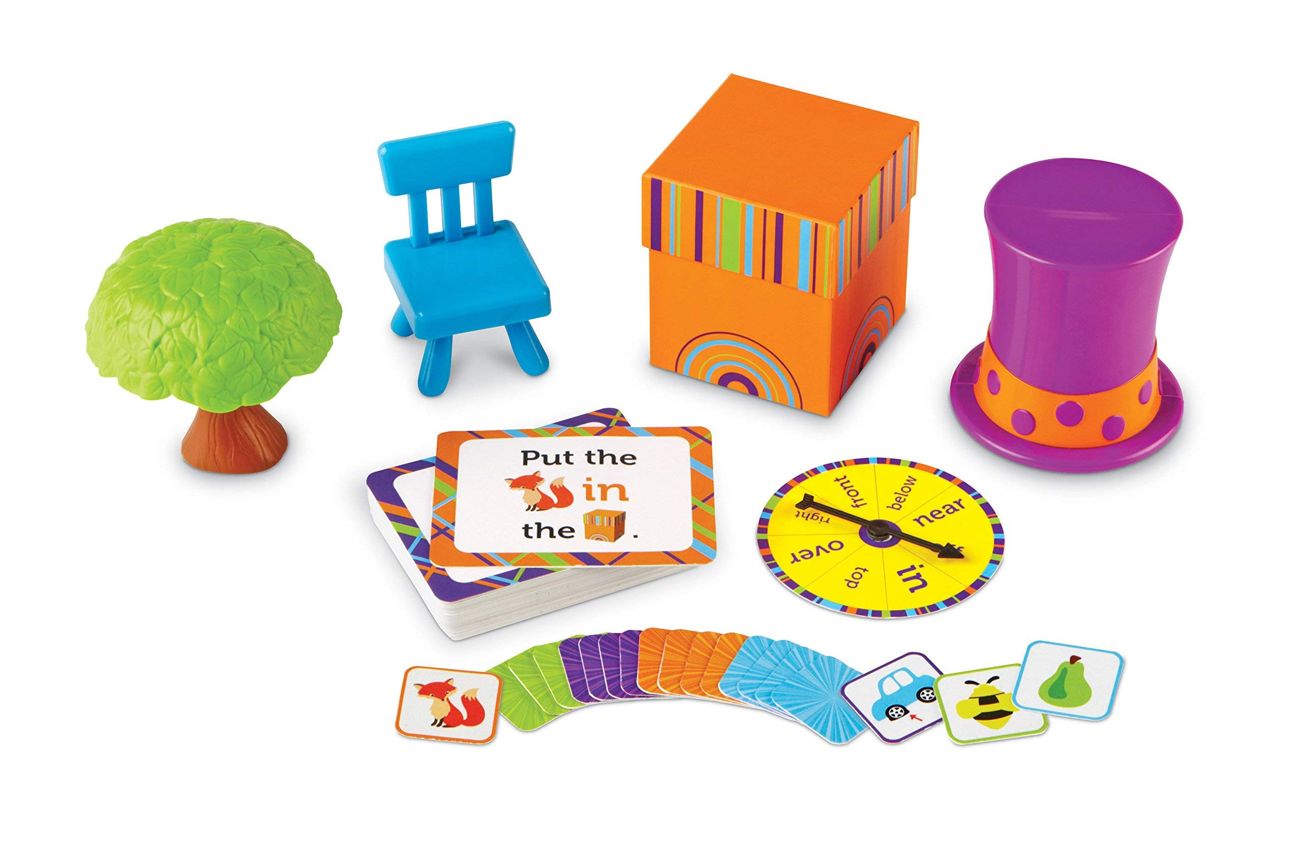 Learning Resources Fox In The Box- Position Word Activity Set, 65 Pieces (Renewed)