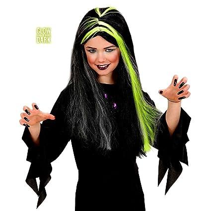 NET TOYS Peluca Infantil de Bruja Halloween Bruja Pelucas ...