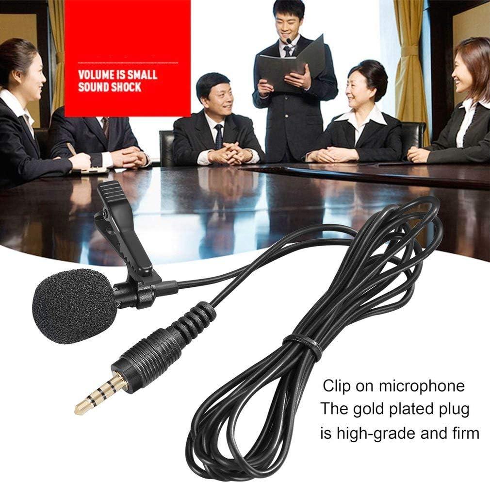 Hehilark Mini Cravate Micro Pince /à Cravate Microphones Enregistrement sur t/él/éphone Intelligent Parler Chant
