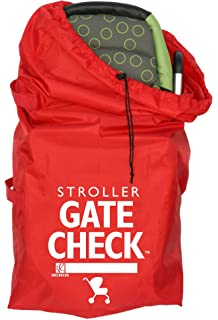 J L Childress Gate Check Air Travel Bag For Standard And Double Strollers Red