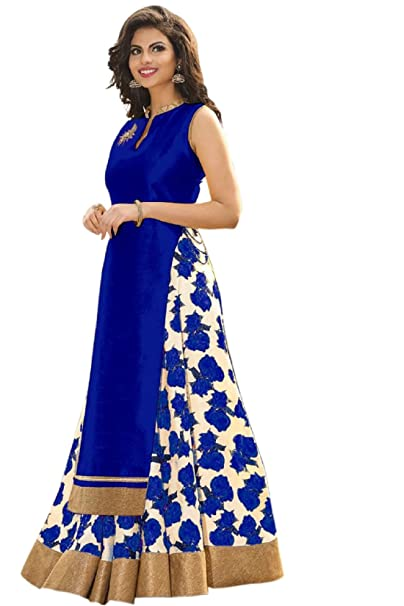 Buy Alka Tex Women S Silk Lehenga Choli Blue Free Size At Amazon In