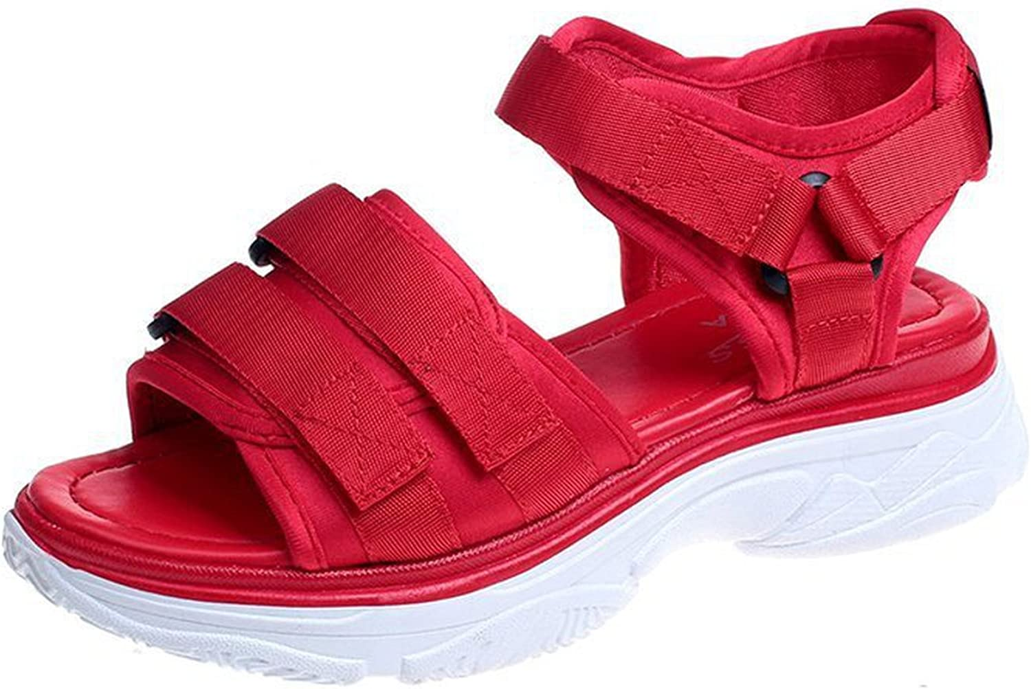Luck Man Summer Shoes for Women Platform Flat Sandals Lady Cool Shoes Casual Leisure Beach Footwear Sandalias Mujer Red