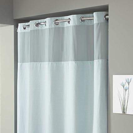 Amazon Com Hookless Waffle Fabric Shower Curtain Size 54 X