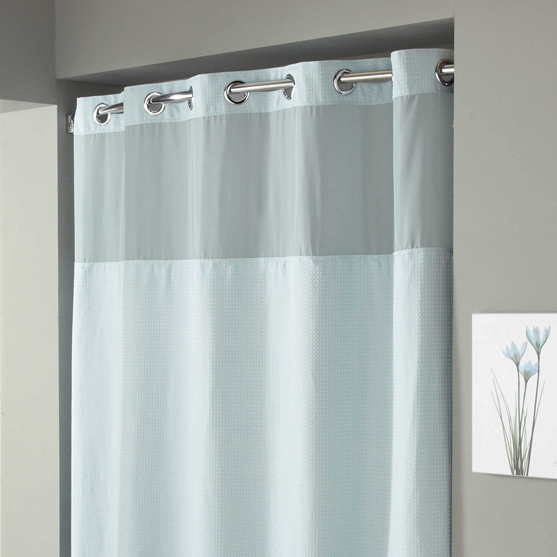 Amazon.com: Hookless Waffle Fabric Shower Curtain - Size : 71\