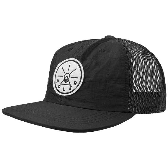 Poler Golden Circle Trucker Cap Snapback (One Size - Black)  Amazon ... 3d45ba7faf5