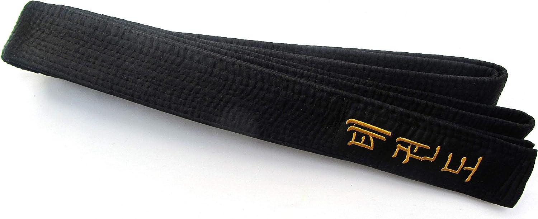 Shihan TAE Kwon-DO Black Belt Satin Embroidery 300cm Length Korean Martial Arts Belt Taekwondo
