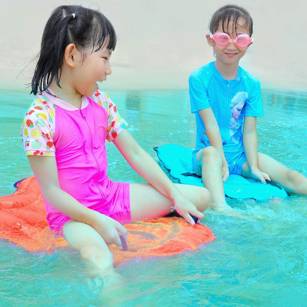 Surfing Body Board Inflatable Pool Float Beach Surfing Buoy Board Swimming Floating Mat with Handles for Kids Adults Walmeck