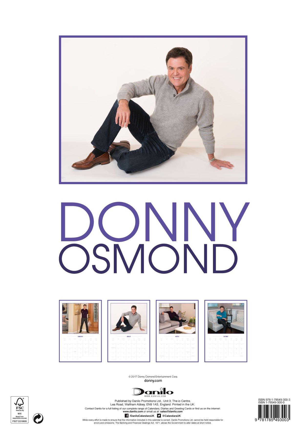 Donny Osmond Official 2018 Calendar