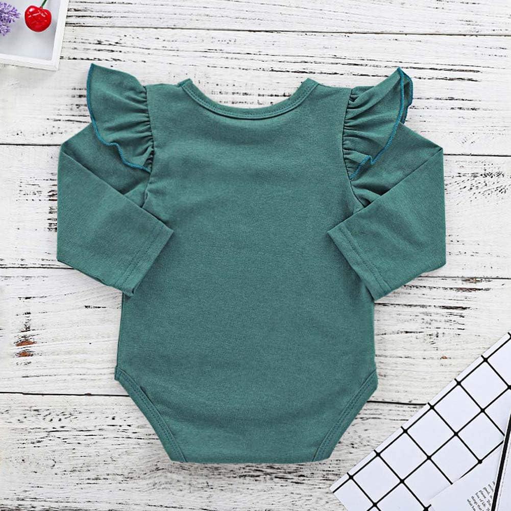 Baywell Baby M/ädchen Kleidung Set 3 St/ück Langarm Bodysuit Strampler Overalls Hosen Mit Stirnband Outfits Set Kleidung Set