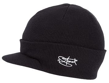 25b87501ae45 2Stoned Mütze mit Schirm Visor Beanie Cap Deluxe, One-Size Damen und Herren,