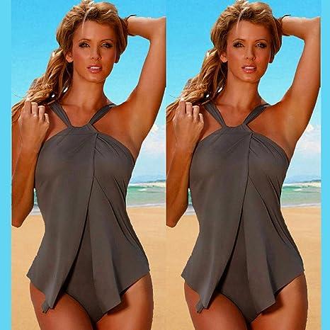 DEELIN Traje De BañO Sexy para Mujer Bikini Bikini MarróN Verano: Amazon.es: Ropa y accesorios