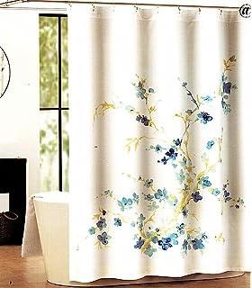 tahari home printemps whiteblue floral fabric shower curtain