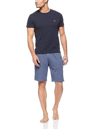 6cf260d5d2def Emporio Armani Pyjama Homme, Court, Manches Courtes, Motif à Motif ...