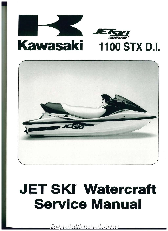 Fabrik Manual Kawasaki Jet Ski 1100 Stx D I.