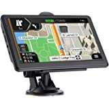GPS Navigation for Car, Latest 2021 Map 7 inch Touch Screen Car GPS 256-8GB, Voice Turn Direction Guidance, Support Speed and