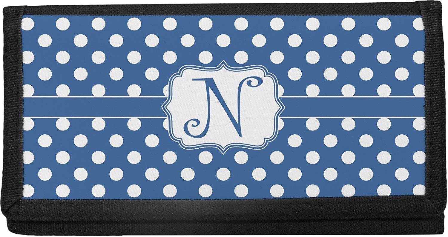 Polka Dots Canvas Checkbook Cover (Personalized) YouCustomizeIt