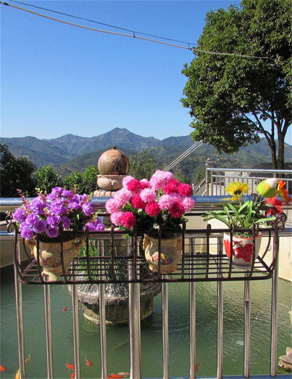 supports de mur de fleur pour le balcon ZENGAI Barres de fer Barres de pot de fleur Couleur : Bronze, taille : L-60cm /étag/ère de suspension de plante