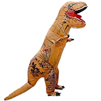 THEE Halloween Inflatable T-Rex Dinosaur Blow Up Dress Up Simulation Cosplay Costume Adult