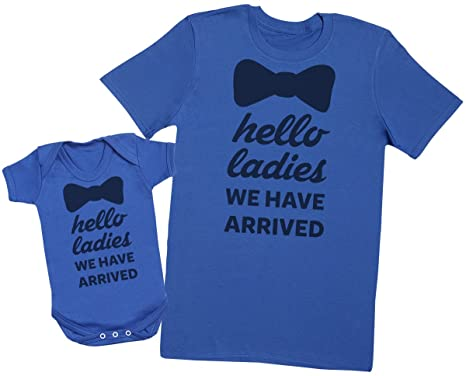 Hello Ladies, I'm Here! - Passende Vater Baby Geschenkset - Herren T