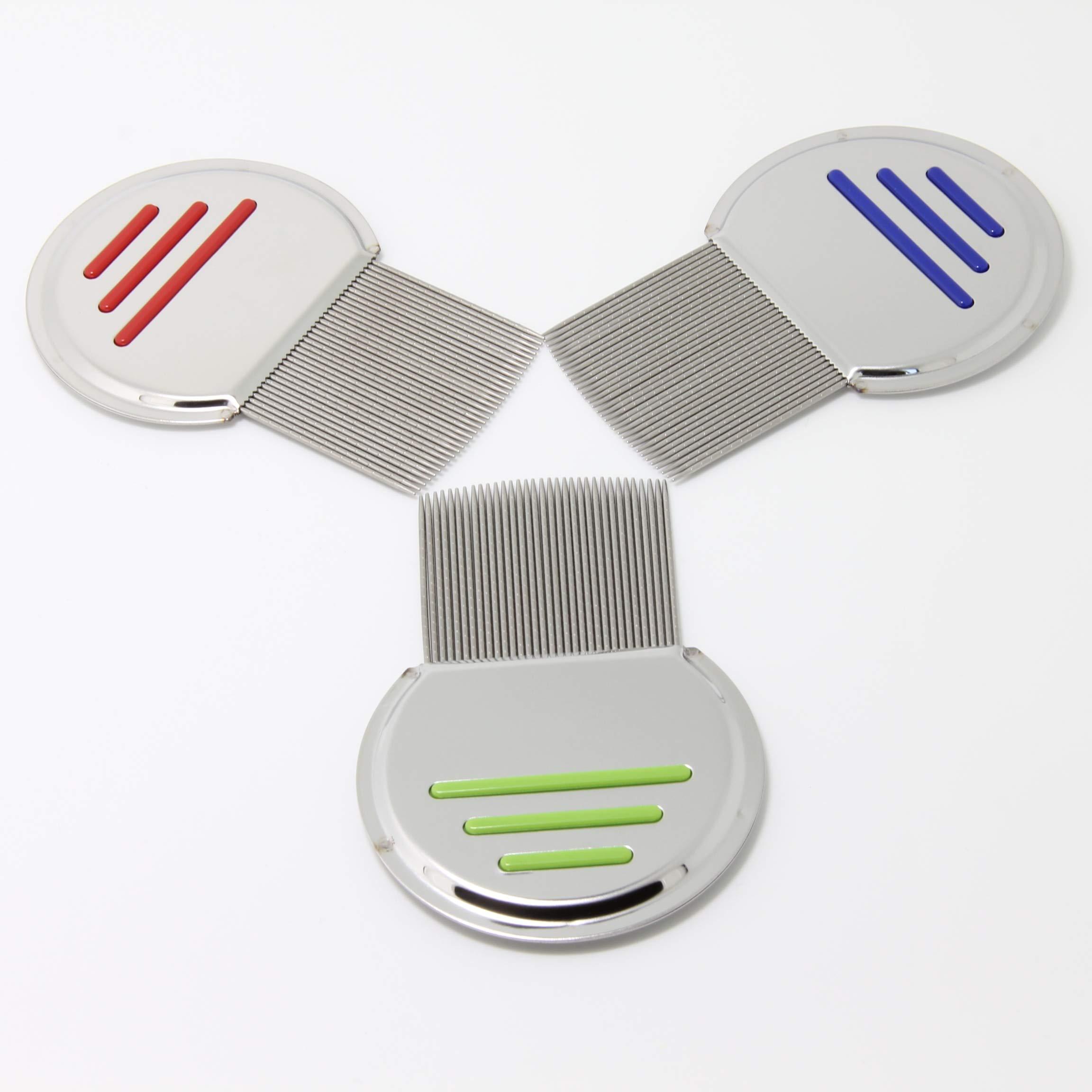 Goonpetchkrai.rapat7498 Lice Combs Set Lice Stainless Steel Metal Teeth by Goonpetchkrai.rapat7498