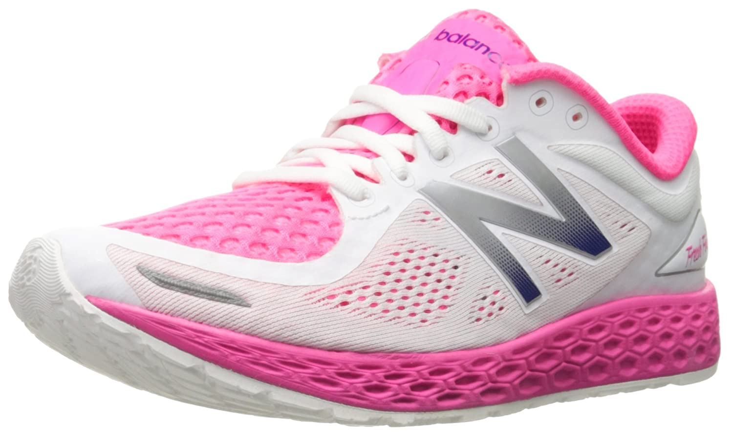 New Balance Women's ZanteV2 Breathe Running Shoe B016419180 10.5 B(M) US|White/Amp Pink