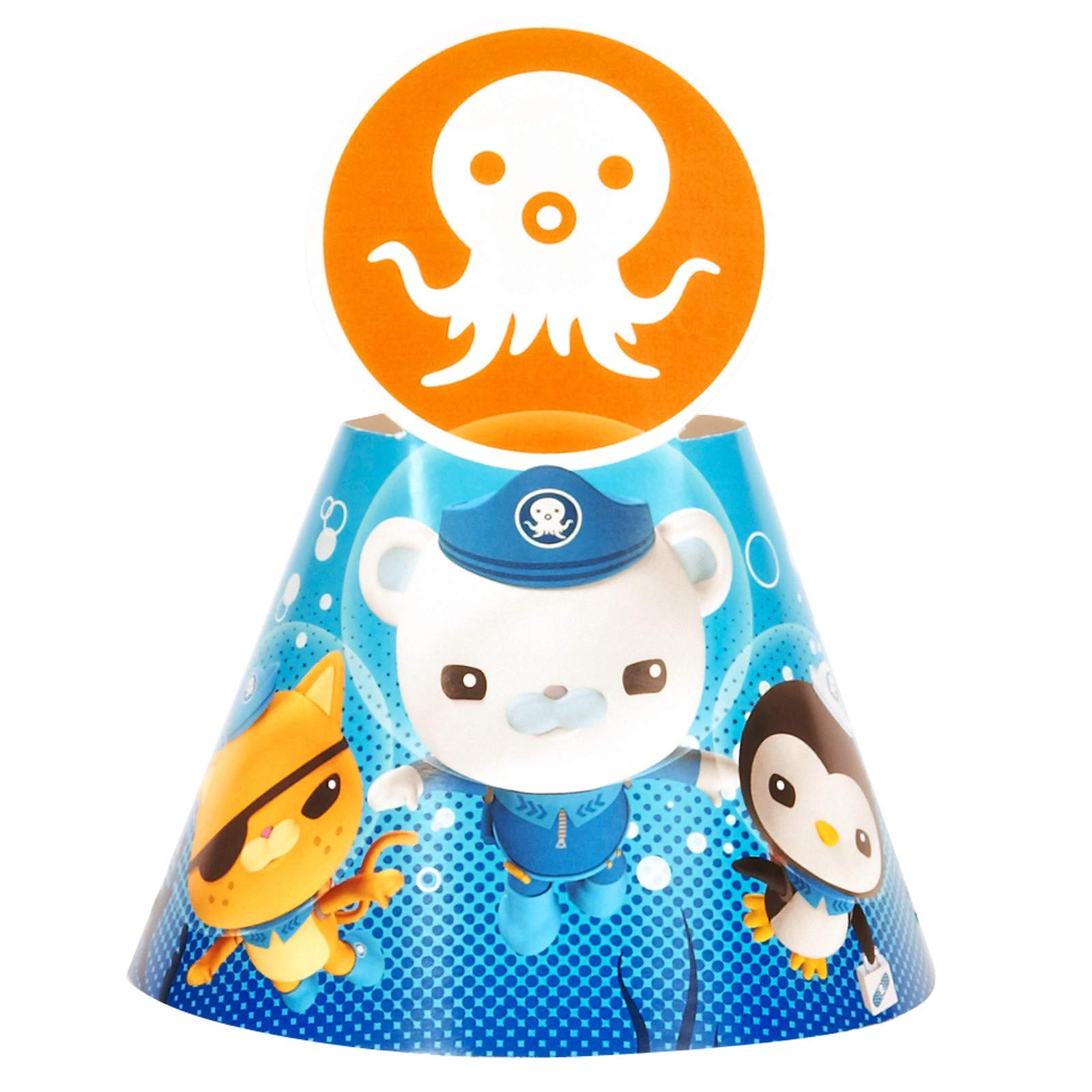 BirthdayExpress Disney The Octonauts Cone Party Hats, 8-Count, Multicolor, One Size
