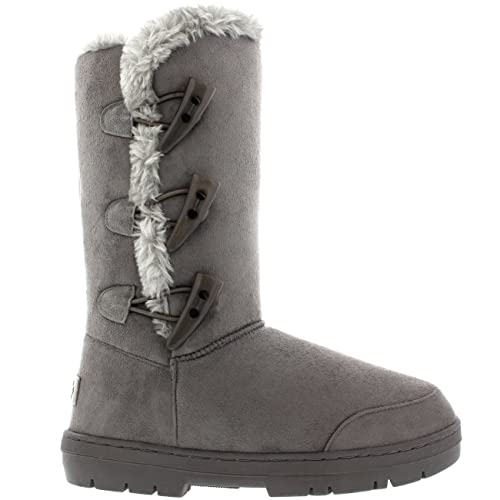 513a7032a Mujer Triplet Toggle Classic Tall Fur Impermeable Invierno Rain Nieve Botas  - Gris - 42  Amazon.es  Zapatos y complementos