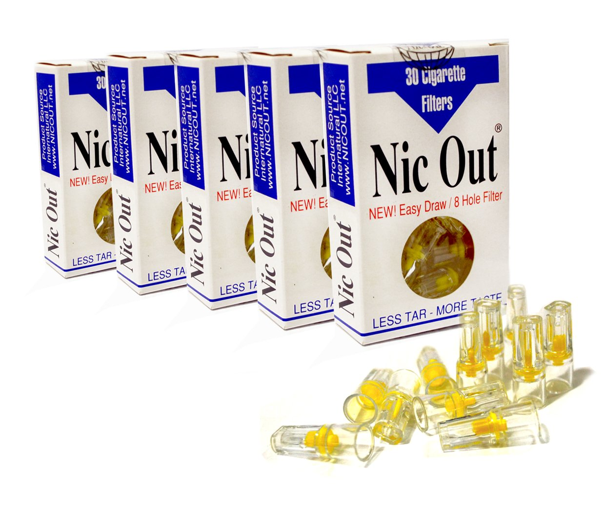 Nic Out Filters For Cigarette Smokers (New Easy Draw 8 Hole Filter System) (5)