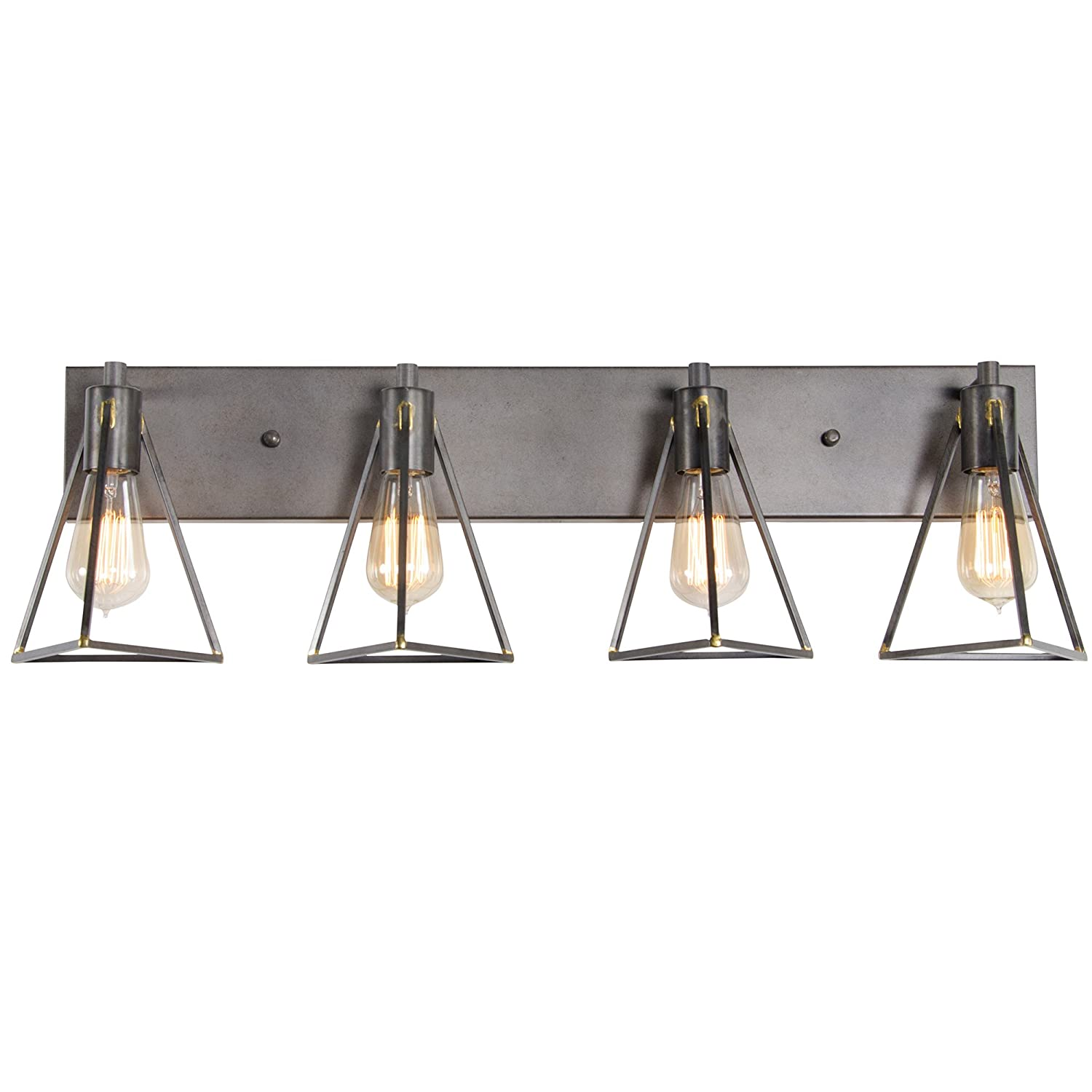 Varaluz 288B04GS Trini 4-Light Bath Fixture – Gunsmoke Finish