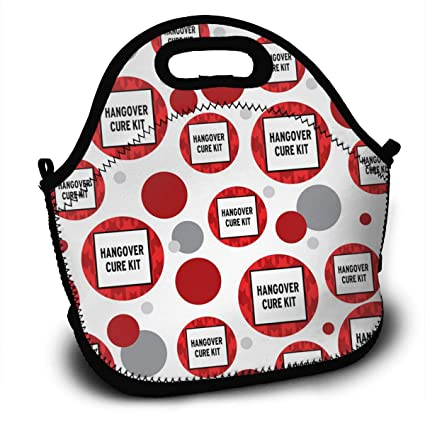 329ebca247cf Amazon.com - Sunmoonet Art of Lunch Insulated Neoprene Lunch Bag for ...