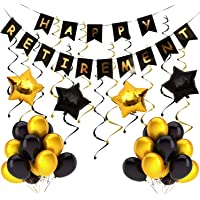 Theme My Party, Retirement Party Decoration| Happy Retirement Decorative Banner| Happy Retirement Banner Bunting| Retirement Party Supplies Favors Gifts and Decorations