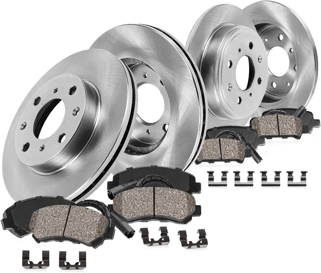 Fit 2007-2010 Mini Cooper PowerSport Full Kit Brake Rotors+Ceramic Brake Pads