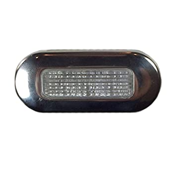 """Nueva 3 """"X1.25"""" LED azul rectangular Cortesía Luz Embellecedor de acero"""