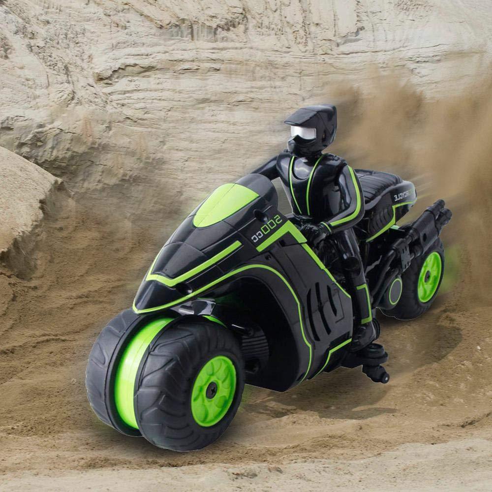 Volwco RC Stunt Motocicleta Control Remoto Motos 360 /° Giratorio de acci/ón Drift Stunt Motocicleta de Alta Velocidad 2.4 GHz Radio Control Motocicleta de Carreras para ni/ños ni/ños Adultos