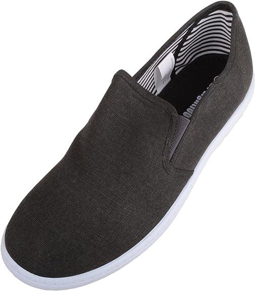 TALLA 40.5 EU. Zapatos de lona para hombre con plantilla de espuma viscoelástica