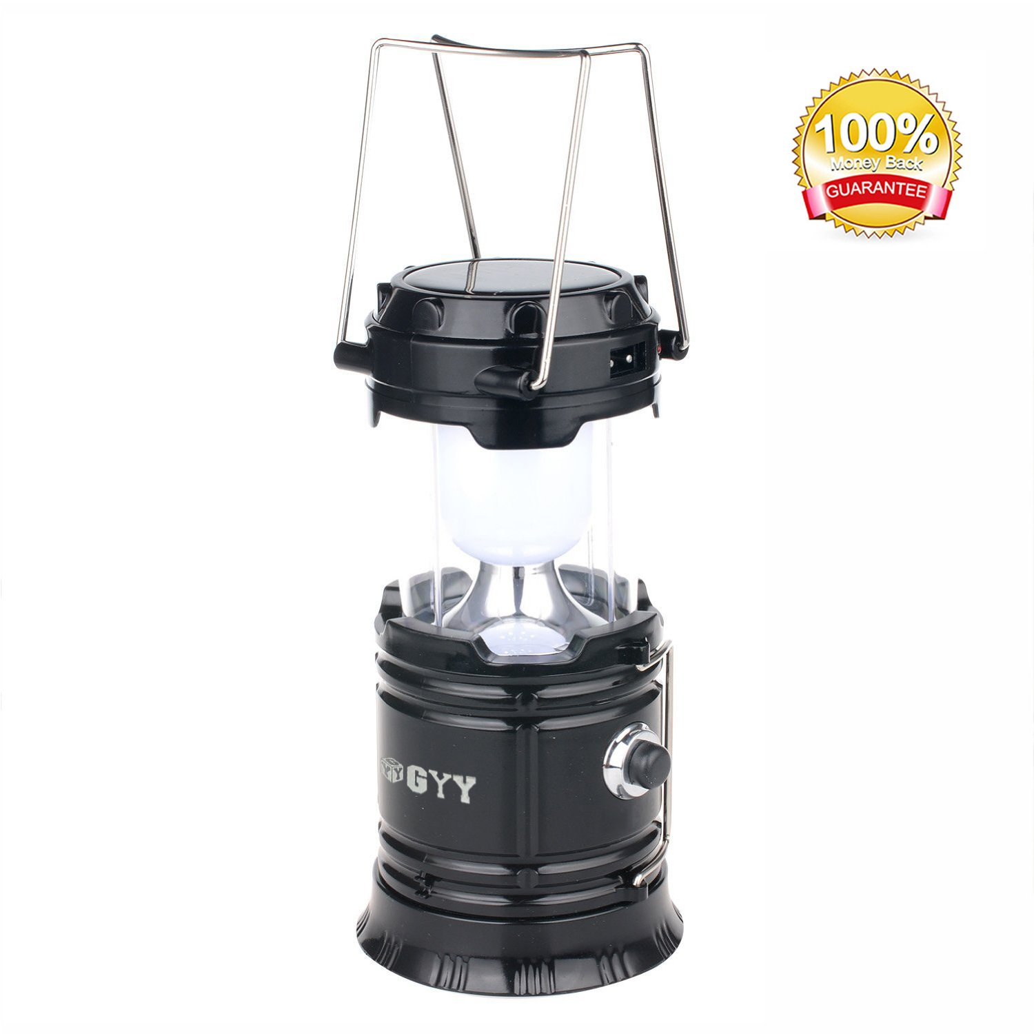 Gyy 3 In 1 Solar Rechargeable Collapsible Portable Led Camping Lantern Flashl.. 18