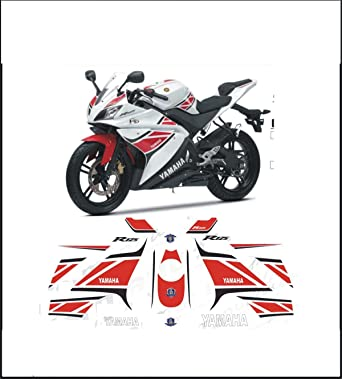 Kit adesivi decal stickers yamaha r125 yzf wgp 50 anniversary ability to customize the colors