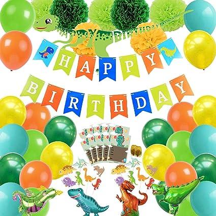 Amazon.com: Dinosaur suministros de fiesta 78 piezas ...