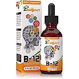Vitamin B Complex Liquid Drops with Fast Absorption - Super B Liquid Complex Vitamins B2, B3, B5, B6 & B12 - Natural…