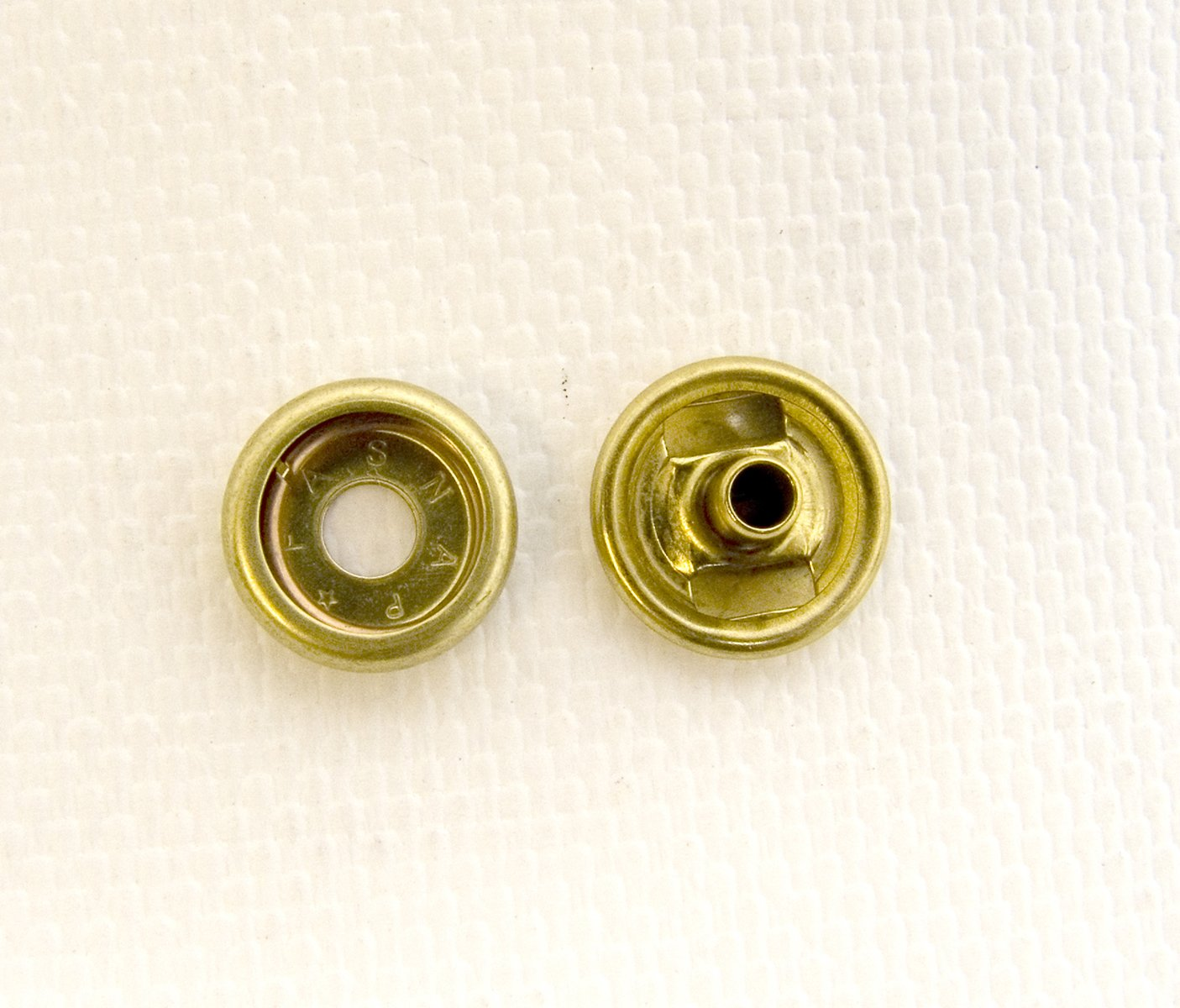 Snap Fastener, Cap & Socket Only, Solid Brass, 10 Piece Set - Shipped from The USA!