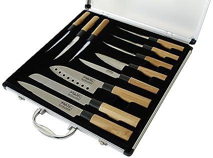 Pradel Cuchillo de Cocinero, bambú, Marrón: Amazon.es: Hogar