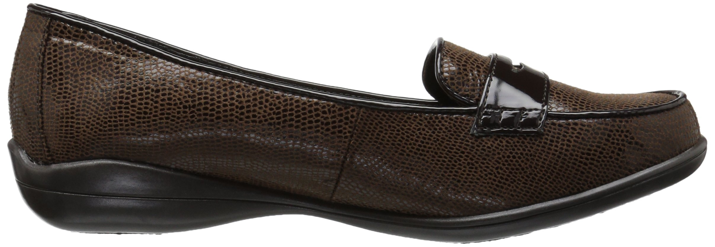 Soft Style by Hush Puppies Women's Daly Penny Loafer, Dark Brown Lizard/Patent, 8.5 W US by Soft Style (Image #7)