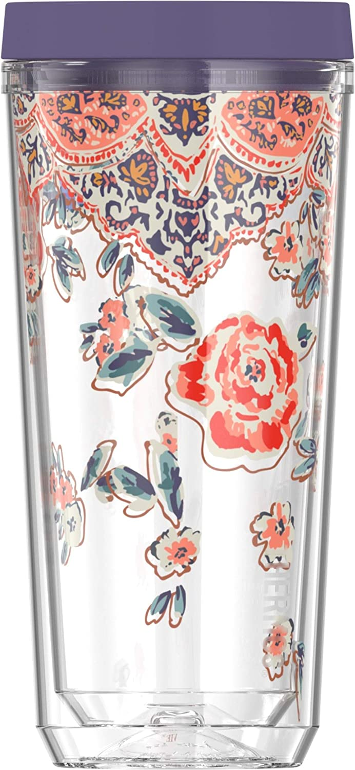 Thermos  Patina Vie 16 Ounce Double Wall Bottle, Posy Shimmer