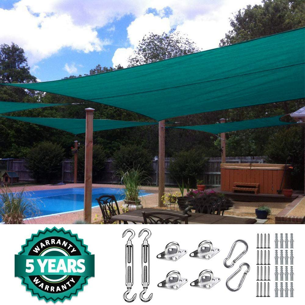 Quictent KMS – Toldo 26 x 20 ft 185 g HDPE Rectángulo Sol toldo ...