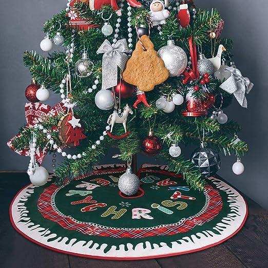 1PC Christmas tree decorations purple rose red lace circle ribbon