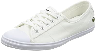 0bf291cdd590 Lacoste Ziane Bl 2 Womens Trainers White - 6 UK