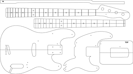 Amazoncom Electric Guitar Routing Template BASS Musical - Guitar routing templates