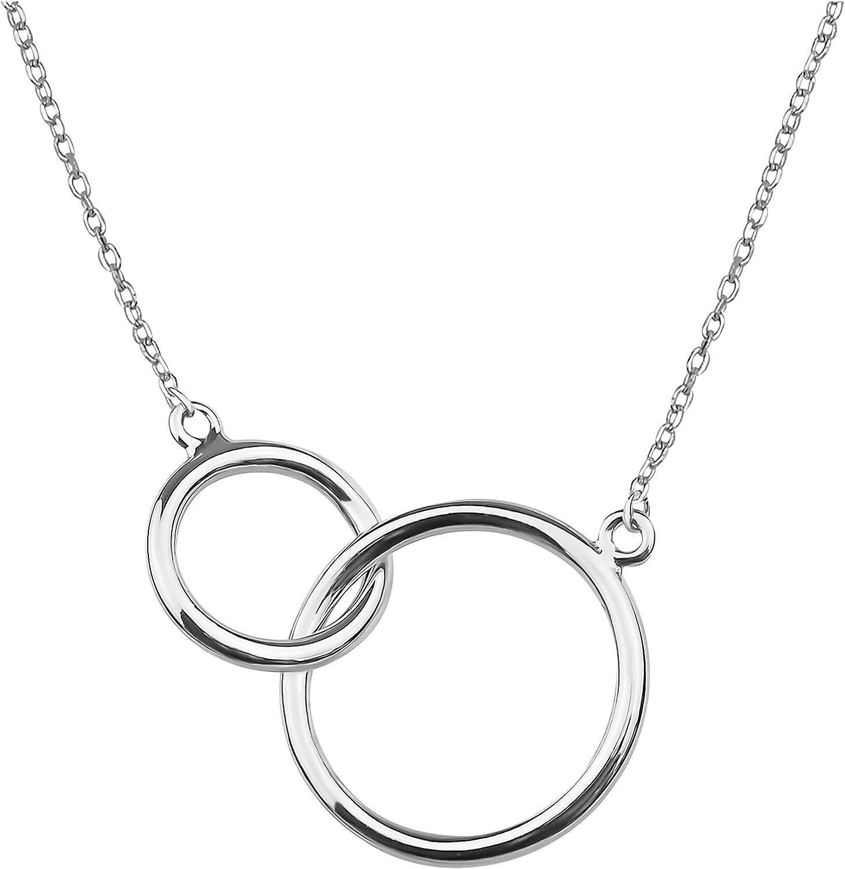 SOFIA MILANI - Collar para Mujeres en Plata de Ley 925 - Colgante de Círculo - 50012